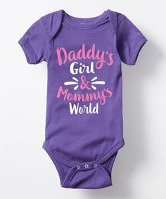 Purple 'Daddy's Girl & Mommy's World' Bodysuit