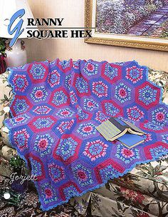 Granny Square Hex Afghan, Annie's crochet pattern