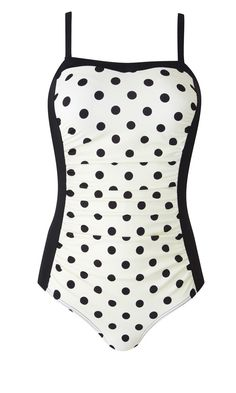 One of Marisota's bestselling swimming costumes, this has ruching, dark illusion side panels and control panels. What more could you ask from your cossie? Marisota magisculpt bandeau swimsuit, £35    prima.co.uk