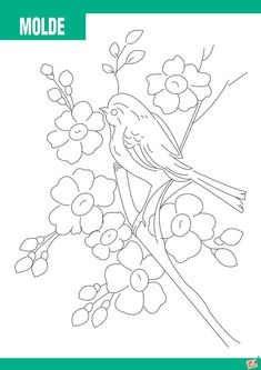 Hand Embroidery Patterns Flowers, Christmas Embroidery Patterns, Hand Embroidery Designs, Vintage Embroidery, Floral Drawing, Mandala Drawing, Outline Drawings, Easy Drawings, Embroidery Transfers