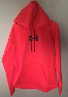 NEW Under Armour UA Women's Icon Caliber Hoodie Pink w/ Camo 1286058 large $65 #UnderArmour #HOODIE
