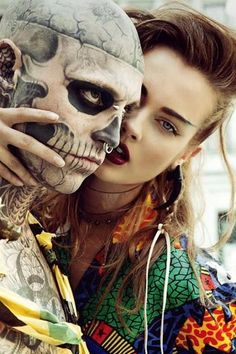 Repin if you think Rick Genest is lovely #piercing #tattoo #bodycandy