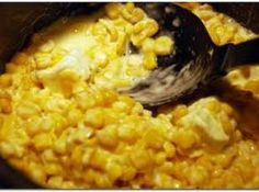 Rudy's Creamed Corn - THE BEST. I never even liked cream corn until I tried it at Rudy's BBQ Restaurant. Rudy's Creamed Corn Recipe, Rudys Creamed Corn, Side Recipes, Vegetable Recipes, Great Recipes, Favorite Recipes, Delicious Recipes, Recipe Ideas, Copycat Recipes