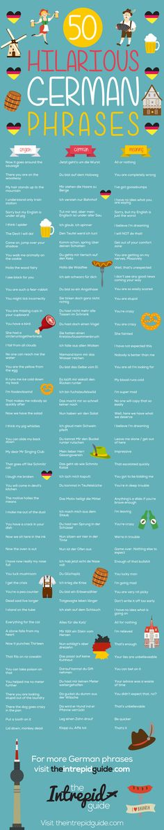 50 Amusing German Phrases That Will Brighten Your Day - Deutsch - Oktoberfest German Language Learning, English Language, Deutsch Language, Japanese Language, German Grammar, Funny German Phrases, Grammar Funny, Learn German, Learn French