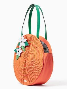 Kate Spade Spice Things Up Straw Orange Tote Diy Handbag, Diy Purse, Diy Bags Patterns, Potli Bags, Leather Diy Crafts, Embroidery Bags, Jute Bags, Craft Bags, Crochet Handbags
