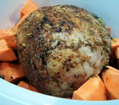 Pork roast & sweet potatoes crock pot