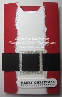 Rita's Santa Suit Gum Holder - quick & easy stocking stuffer www.toocoolstamping.com