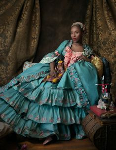 """Marie-Antoinette is Dead"": photo portrait by the extraordinary American artist, Fabiola Jean-Louis. Black Is Beautiful, Beautiful People, Beautiful Images, Black Royalty, 18th Century Fashion, Black Girl Aesthetic, Marie Antoinette, Black Girl Magic, The Dress"
