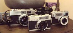 Old vintage cameras collection / Konica C35 / by BelleEpoque13