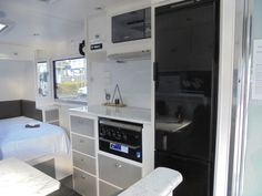 Travel in style in the Australian designed and made Overland Tracker. Gold Coast, Travel Style, Caravan, Offroad, Storage Spaces, Vanity, Range, Furniture, Off Road