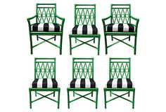Ficks Reed Dining Chairs inspiration for garden chair. Outdoor Spaces, Outdoor Chairs, Outdoor Furniture, Outdoor Decor, Vintage Dining Chairs, Chair Redo, Garden Chairs, Palm Beach, Beautiful Homes