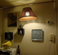 HOME: Tension Rod Hanging Lamp