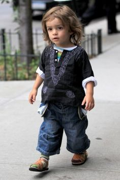 Unconventionally dressed children--one of my less-important parenting aspirations.