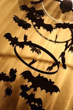 A very Spooky Bat Chandelier by @Courtney Carmean (A Diamond in the Stuff) #spookyspaces