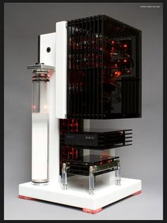 Edelweiss PC by Million Dollar PC. I love the segmented design, like a Thermaltake case. Can all the parts be made plug-and-play? Wouldn't that be amazing, if everything, or nearly so, was hot-swappable?