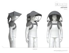 Alan Kaufman is raising funds for Introducing Nubrella, the world's first hands-free umbrella. Nubrella® is a breakthrough product innovation. It is a hands-free, invertible weather protector, conveniently worn backpack-style. Jd Fashion, Paper Fashion, Origami Fashion, Modern Day Witch, 3d Geometric Shapes, Free Paper Models, Parametric Design, Mask Design, First World
