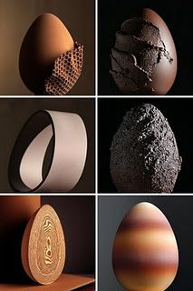 Chocolate eggs crafted by Enric Rovira. Watching him create these confections is incredible! Chocolate Work, Chocolate Delight, Chocolate Heaven, Chocolate Shop, Chocolate Lovers, Chocolate Desserts, Chocolate Color, Chocolate Muffins, Chocolate Showpiece