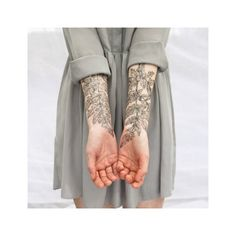 The Aviary Fern And Crystals Temporary Tattoo Set ($20) ❤ liked on Polyvore featuring accessories and body art