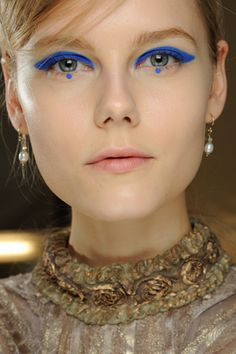 Anna Sui fall 2012 ready to wear beauty @Taylor Jensen, I think I may have found Kylee's twin.