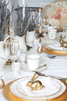 Lavender and Vintage Brass Accentscountryliving