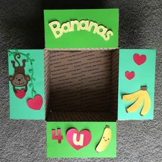 Banana Care Package Flaps by LoveFromHomePackages on Etsy