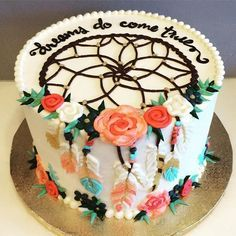 """Dreamcatcher cake """"dreams do come true"""""""