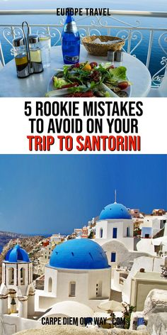 When planning a trip to Santorini there are a few common mistakes that many first time travelers make! Read this guide to Santorini Greece to ensure you avoid these common rookie mistakes! Things to do in Santorini | Europe Travel Tips | Honeymoon Santorini | Greek Islands Travel