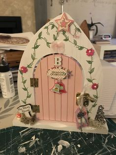 Made by Artee Phartee Fairy Garden Doors, Fairy Gardens, Tooth Fairy Doors, Gnome Door, Door Crafts, Diy Ideas, Craft Ideas, Fairy Crafts, House Doors