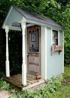 I've been in some really nice outhouses. Just cause they are a ways out, doesn't mean they can't be fixed up. Uh, ya do spend a bit of time there.