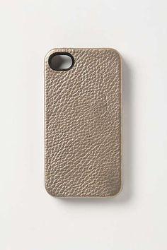 Anthropologie - Metallic Leather 4 & 4S iPhone Case
