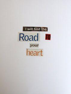 Magazine word poetry...love!!