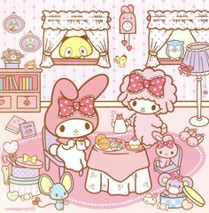 Dollidays, My Melody and Sweet Piano My Melody Wallpaper, Sanrio Wallpaper, Kawaii Wallpaper, Hello Kitty Backgrounds, Hello Kitty Wallpaper, Sanrio Characters, Cute Characters, Hello Kitty My Melody, Kitty Images
