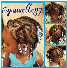INSTAGRAM -  Instagram : @ Yunuette87 BOW HAIR DESIGN / HAIR BRAID / LITTLE GIRL HAIRSTYLE / LITTLE GIRL / HAIRSTYLE / HAIRDO / BRAIDS / PROTECTIVE HAIRSTYLE / SCALP BRAIDS / PRETTY GIRLS / KIDS / GIRLS / NATURAL HAIRSTYLES / CORNROLLS