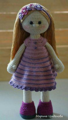 Crochet fille avec petit robe