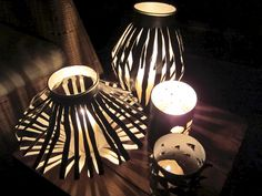 Lanterns made from 'Pringles' containers.  Lovely!  01_Chipslaternen