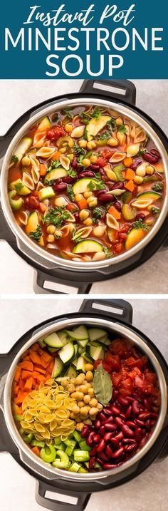 Pot Homemade Minestrone Soup makes the perfect easy comforting meal., Instant Pot Homemade Minestrone Soup makes the perfect easy comforting meal., Instant Pot Homemade Minestrone Soup makes the perfect easy comforting meal. Instant Pot Pressure Cooker, Pressure Cooker Recipes, Pressure Cooking, Soup Recipes, Vegetarian Recipes, Healthy Recipes, Recipies, Easy Recipes, Vegetarian Burrito