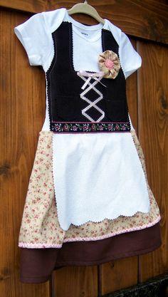 Baby Dirndl Oktoberfest Dress German By Adasaccessories4me On Etsy