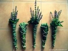 Make Your Own Smudge Sticks  And a List of Herbs Traditionally Used