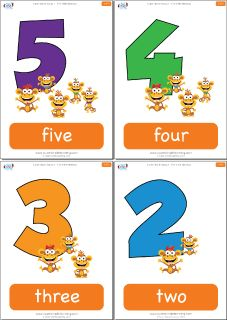 "Flashcards for the Super Simple Learning version of ""Five Little Monkeys."" #preK #Kindergarten #ESL"