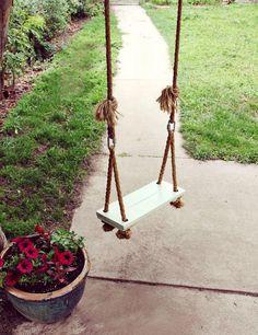 DIY! Make your own backyard swing.