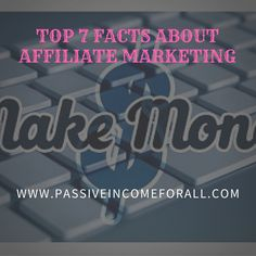 From my experience as an Affiliate Marketer, these are the main things that You need to know. Check out the Top 7 Facts about Affiliate Marketing. Affiliate Marketing, Need To Know, Facts, Education, Check, Top, Onderwijs, Learning, Crop Shirt