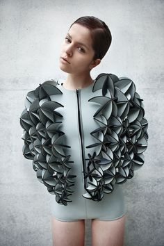"Neoprene design by Alba Prat, female Berlin designer. From her collection ""Synthetic Oceans"". Photo © José Morraja"