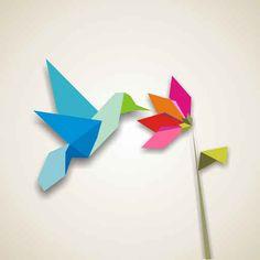 Origami loveliness #origami #animals #flowers