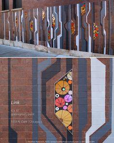 Link | public art mural | 5553 N Clark by Heather Hancock
