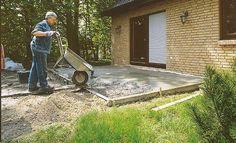 Bodenplatte betonieren: Schritt 6 von 8