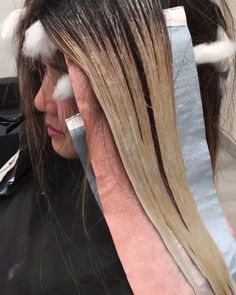 Diy Ombre Hair, Cabelo Ombre Hair, Black Hair With Highlights, Hair Color Highlights, Hair Color For Black Hair, Hair Foils, Hair Color Streaks, Hair Cutting Videos, Hair Videos