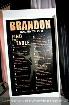 Seating chart - a lit waterfall!! Lacrosse Bar Mitzvah » Party Perfect