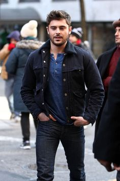 Zac Efron on the set of AWOD on January 7, 2013