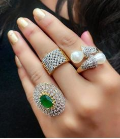 *Twinkling Chunky Rings*😍 Base Metal: American Diamond Plating: Silver Plated Stone Type: Cubic Zirconia Type: Finger Ring Multipack: 3 Sizes: Adjustable (Free Size) Dispatch: Days 💸Price COD 📱DM to order or Whatsapp . Girls Accessories, Jewelry Accessories, Women Jewelry, Jewelry Design, Valentine Day Special, Valentines, Chunky Rings, Gold Plated Rings, Handmade Jewelry
