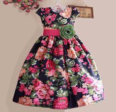 Fashion kids girl black children Ideas for 2020 Girls Blue Dress, Girls Party Dress, Party Wear Dresses, Toddler Girl Dresses, Little Girl Dresses, Girls Dresses, Flower Girl Dresses, Flower Girls, Baby Dresses
